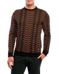 Iuter - Brown Printed Crew Neck Sweatshirt for Men - Lyst