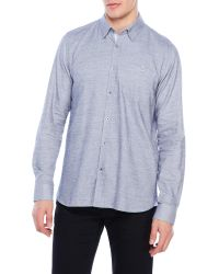 Ted Baker | Gray Soft Woven Button-Down Shirt for Men | Lyst
