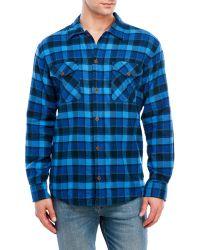 Pendleton - Blue Lined Shirt Jacket for Men - Lyst