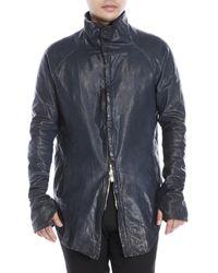 Incarnation - Blue Leather Jacket for Men - Lyst