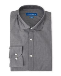 Vince Camuto | Gray Slate Slim Fit Dress Shirt for Men | Lyst