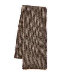 Sofia Cashmere | Gray Knit Cashmere Scarf | Lyst
