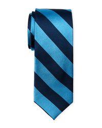 Pierre Cardin | Blue Club Stripe Slim Silk Tie for Men | Lyst