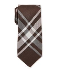 Cole Haan | Brown James Plaid Silk Tie for Men | Lyst