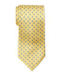Battistoni - Yellow Turtle-Print Silk Tie for Men - Lyst