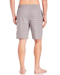 Calvin Klein - Gray Woven Pajama Shorts for Men - Lyst