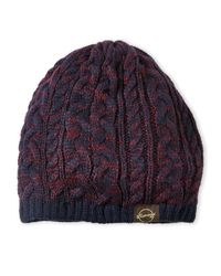 Weatherproof | Blue Marled Cable Beanie | Lyst
