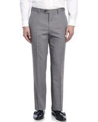 Tommy Hilfiger | Gray Pindot Flat Front Dress Pants for Men | Lyst
