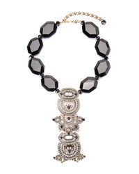 Heidi Daus - Multicolor Mother Of Pearl Art Deco Necklace - Lyst