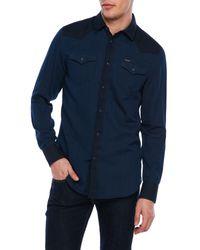 DIESEL | Blue Western Shades Shirt for Men | Lyst