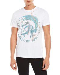 DIESEL | White T-Sha Graphic T-Shirt for Men | Lyst