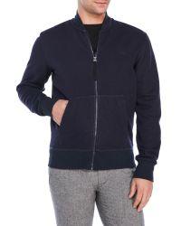 G-Star RAW   Blue Fleece Bomber Jacket for Men   Lyst