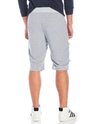 American Stitch Gray French Terry Moto Shorts for men