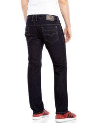 DIESEL - Black Dark Wash Safado Slim Straight Jeans for Men - Lyst
