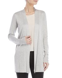 Fever Gray Open Pleated Detail Duster