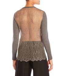 Sharon Wauchob - Multicolor Lace Back Wool Cardigan - Lyst