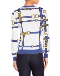 Love Moschino - Blue Buckle Print Sweater - Lyst
