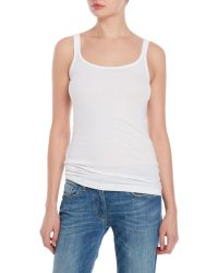 VINCE | White Favorite Ribbed Tank | Lyst