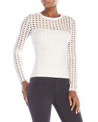 T By Alexander Wang - White Circle Eyelet Top - Lyst