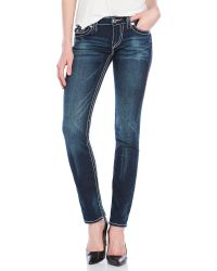 True Religion   Blue Big Stitch Skinny Jeans   Lyst