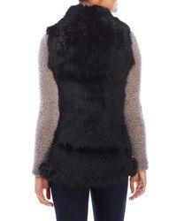 Love Token - Black Chloe Open Rabbit Fur Vest - Lyst