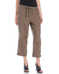 Free People | Brown Utility Drawstring Pants | Lyst