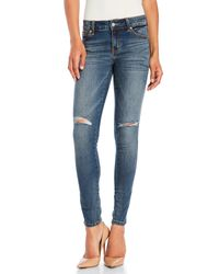 Eunina - Blue Mica Low-Rise Skinny Ankle Jeans - Lyst