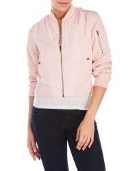 Romeo and Juliet Couture | Pink Bomber Jacket | Lyst