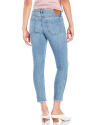 Lucky Brand - Blue Distressed Brooke Cropped Jeans - Lyst