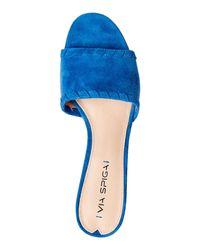 Via Spiga - Strind Blue Wendolyn Slide Sandals - Lyst