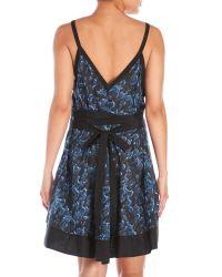 Proenza Schouler - Blue Silk-Blend Belted Sun Dress - Lyst