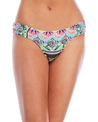 OndadeMar | Blue Zenega Ruched Side Bikini Bottom | Lyst