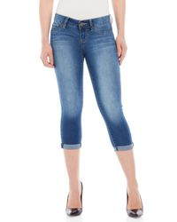 YMI   Blue Luxe Cropped Skinny Jeans   Lyst