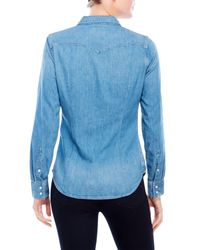 Levi's Blue Tailored Classic Western Shirt