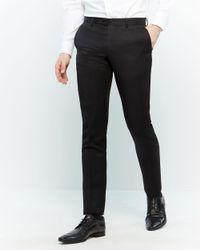 Balmain Two-piece Satin Black Stitch Trim Suit for men