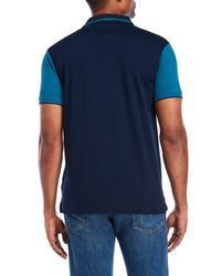 Roberto Cavalli - Blue Tipped Pique Polo for Men - Lyst