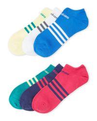 Adidas Originals - Blue 6-Pair Superlite No-Show Socks - Lyst
