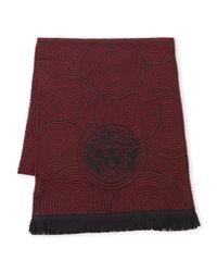 Versace - Multicolor Medusa Circle Wool Scarf - Lyst