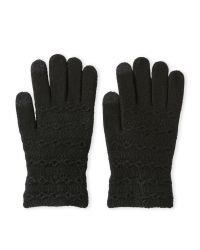 Steve Madden | Black Cable I-Touch Gloves | Lyst
