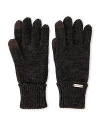 Steve Madden - Black Solid Boyfriend Touch Gloves - Lyst