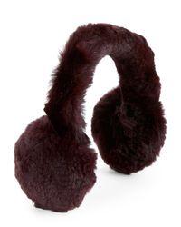 C-lective | Metallic Genuine Rabbit Fur Earmuffs | Lyst