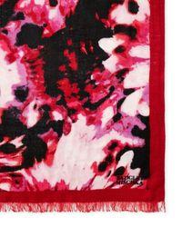 Badgley Mischka - Pink Lily Print Scarf - Lyst