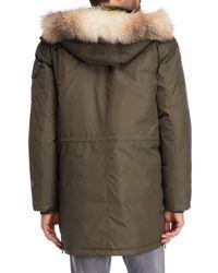 Pajar - Green Wells Real Fur-trimmed Parka for Men - Lyst