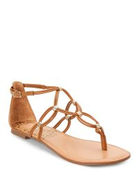 Dolce Vita | Multicolor Caramel Dora Strappy Flat Sandals | Lyst