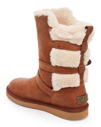 UGG - Brown Chestnut Becket Sheepskin-Trim Boots - Lyst
