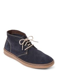 Johnston & Murphy | Blue Navy Mcguffey Chukka Boots for Men | Lyst