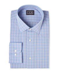 Ike By Ike Behar | Blue & Orange Check Regular Fit Dress Shirt for Men | Lyst