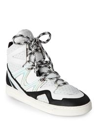 Marc By Marc Jacobs | Off White & Black Ninja High Top Sneakers for Men | Lyst