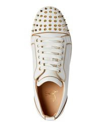 Christian Louboutin - White Rush Spike Low Top Sneakers - Lyst