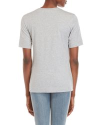 Love Moschino - Gray Raised Graphic Logo Tee - Lyst